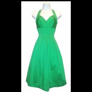Calvin Klein Emerald green pleated dress